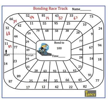 number bonds   race track  jancy teaching math