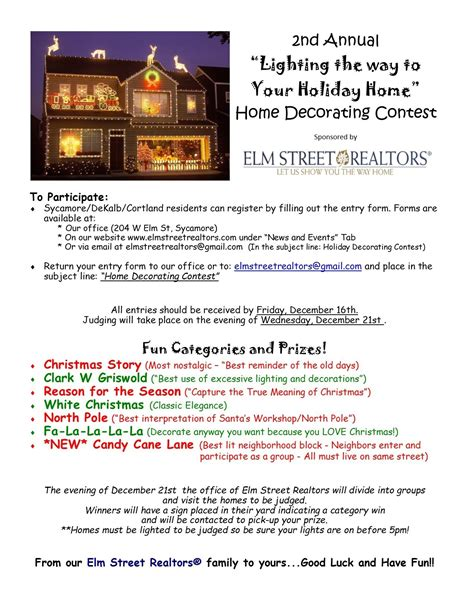 office christmas decorating contest categories