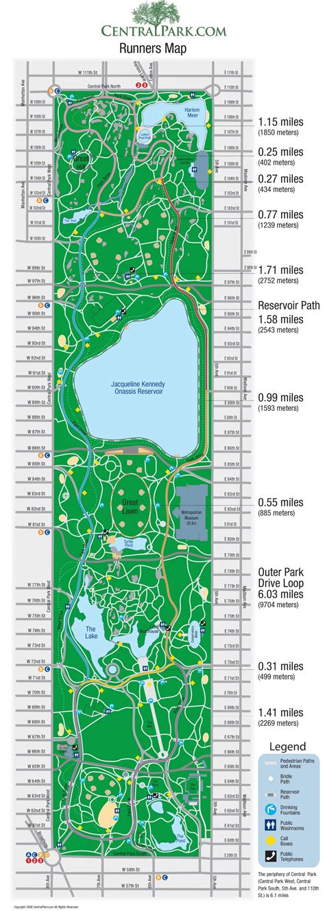 New York Central Park map