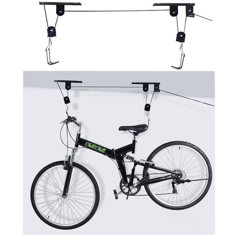ceiling mount bicycle lift storage hook new bike bicycle lift ceiling mounted hoist storage garage