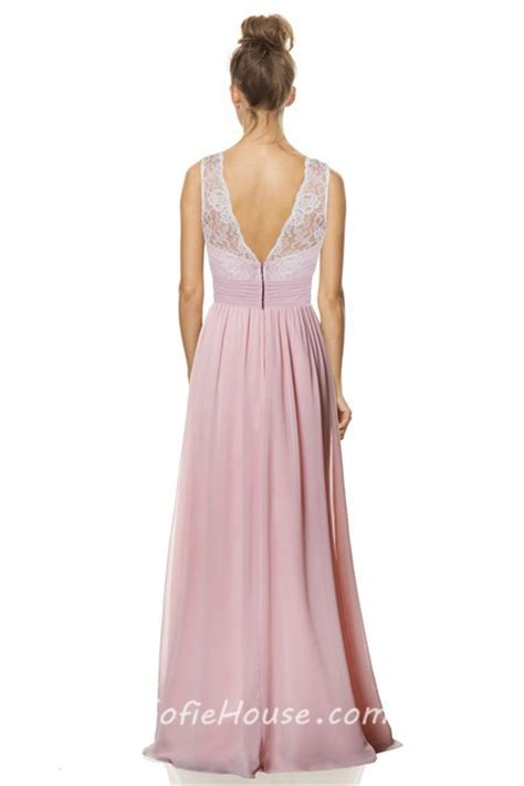 light pink dress for wedding guest a line v neck and back long light pink chiffon lace