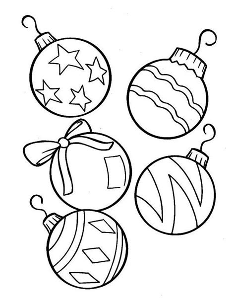 christmas ornaments coloring pages christmas tree