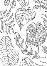 Mindfulness Coloring Pages Activities Leaves Stress Visit sketch template