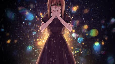 Anime Cry Wallpaper - 1920x1080 anime tears raining
