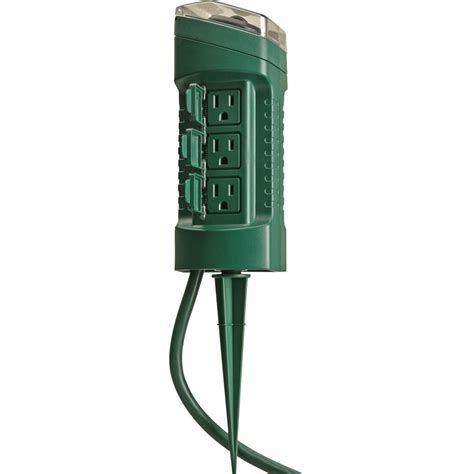 woods   outlet outdoor power stake  mechanical