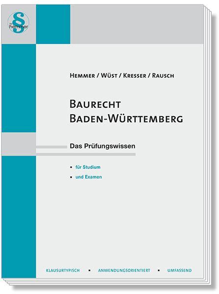 baurecht baden württemberg hauptskripte skript baurecht baden w 252 rttemberg