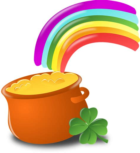 pot of gold line free vector graphic luck rainbow gold pot free image on pixabay 152048