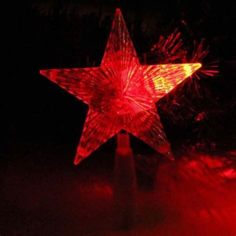 high end indoor outdoor christmas tree topper star light
