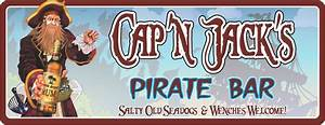 Pirate Bar Personalized Sign with Bearded Captain, Pirate
