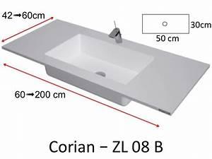 Vasque En Corian : vasques corian type plan toilette avec vasque int gr e ~ Premium-room.com Idées de Décoration
