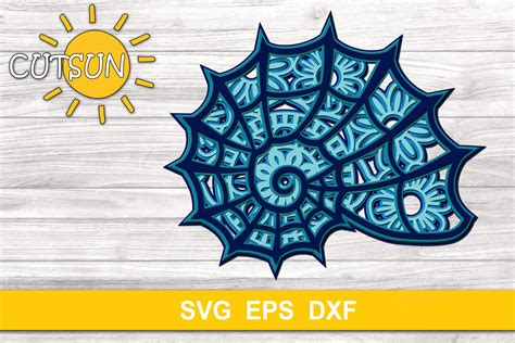 This post may contain affiliate links. 3D Layered Shell Mandala SVG 5 layers (565261)   Cut Files ...