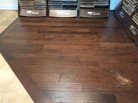 kitchen hardwood floors armstrong rural living hickory wood with a java stain 1796