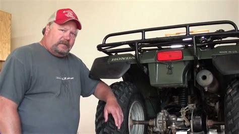 pt honda trxfw rear axle bearing brake repair