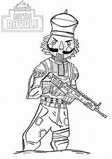 Fortnite Coloring Pages Anyone Gift Perfect Adults Royale sketch template