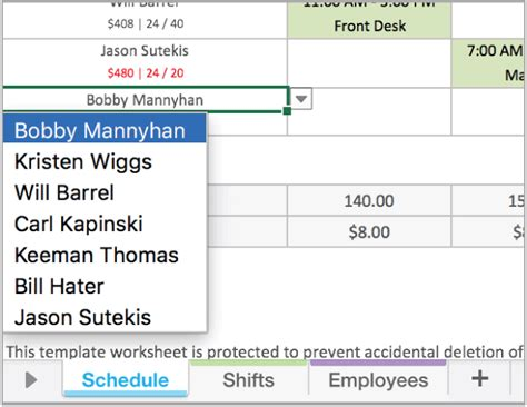 excel employee scheduling template   work