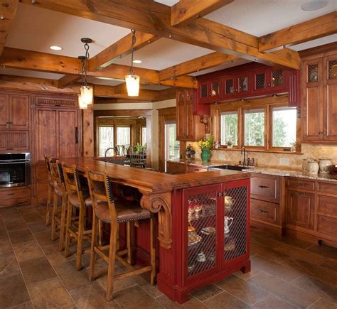 houzz kitchen cabinets hardware rustic log home rustic kitchen other metro by