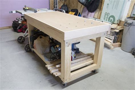 real project work bench outfeed table  pnx