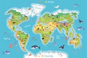 Weltkarte Poster Kinder : kidz collection weltkarte f r kinder franz sisch poster ~ Yasmunasinghe.com Haus und Dekorationen