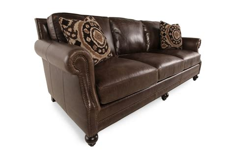 mathis brothers leather sofas bernhardt leather sofa