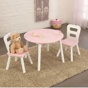 Kidkraft Toddler Table And Chairs by Kidkraft Round Storage Table And 2 Chairs Set In White And Pink
