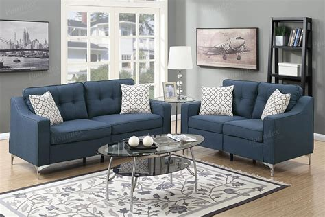 blue sofa and loveseat sets blue fabric sofa and loveseat set steal a sofa furniture