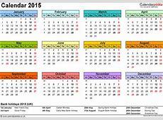 Excel Calendar 2015 UK 16 printable templates xlsx, free