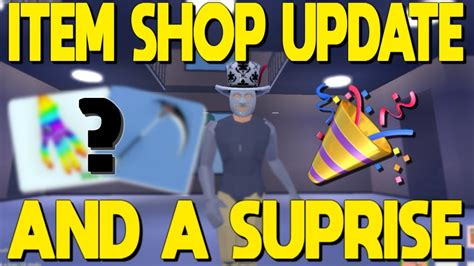item shop update   surprise  strucid youtube