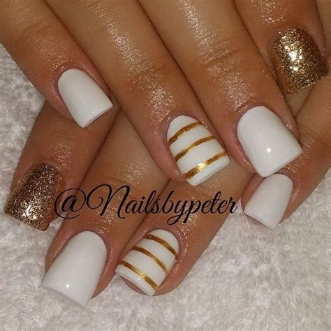 gold nail designs 35 and amazing white and gold nail designs