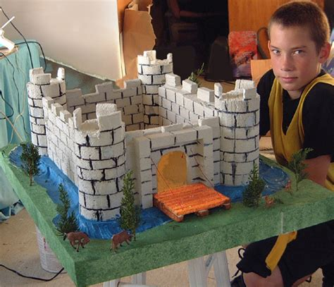 renaissance craft ideas school castle model project models and recreations 2829