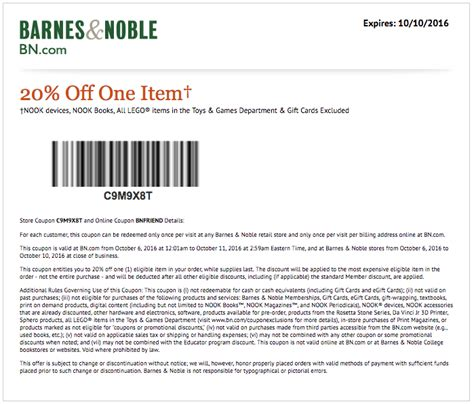 coupons for barnes and noble barnes and noble coupons printable coupons codes