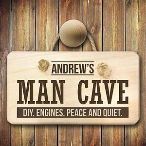 Personalised, Man, Cave, Sign, Custom, Engraved, Plaque