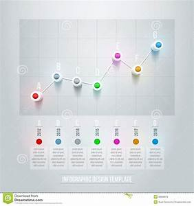 Line Chart Infographic Stock Vector  Illustration Of