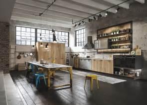 loft kitchen ideas industiral and rustic loft kitchen by snaidero digsdigs