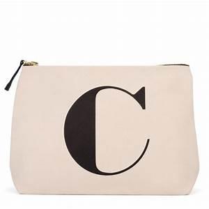 alphabet bags natural wash bag letter c beautylish With letter bag