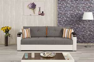Divan deluxe sofa bed in gray fabric by casamode w options for Divan sofa bed