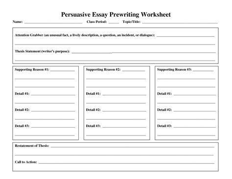 20 best images of essay organizer worksheets writing