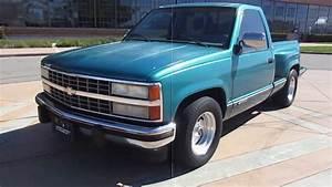 1991 Blue Chevrolet Silverado Stepsidetruck Walkaround