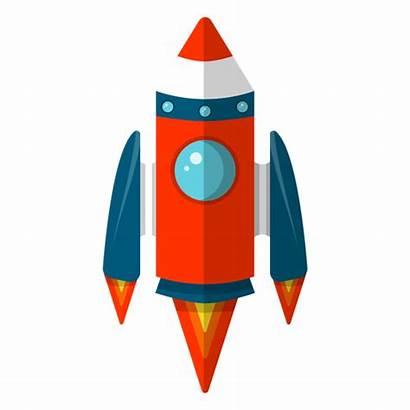 Rocket Transparent Space Clipart Vector Background Illustration