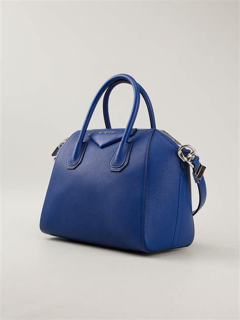 lyst givenchy antigona tote bag  blue