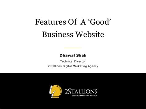 features of a business website