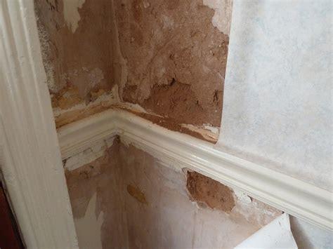 repair severly water damaged interior wall