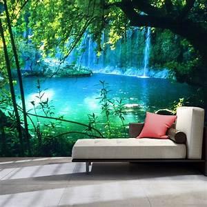 Wall Art Tapete : fototapete ausblick vlies tapete wasserfall wandbild xxl wald natur c b 0132 a a for sale eur ~ Eleganceandgraceweddings.com Haus und Dekorationen