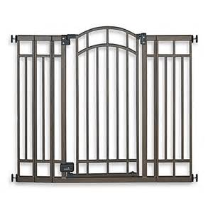 buy summer infant 174 stylish secure decorative bronze walk through gate from bed bath