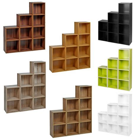 tier wooden bookcase shelving display shelves