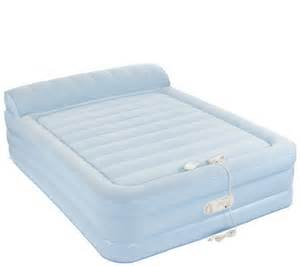 Aerobed 18 With Headboard by Aerobed Queen Size 18 Quot Elevated Bed With Headrest Amp Built