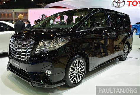 toyota alphard vellfire launched  thailand