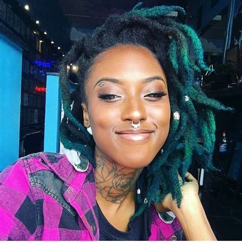 blue and green thick locs dreads locs dreadlocks in