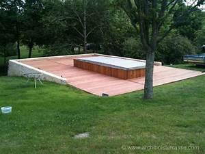 Jacuzzi En Bois : jacuzzi en bois exterieur pour terrasse with jacuzzi en ~ Nature-et-papiers.com Idées de Décoration