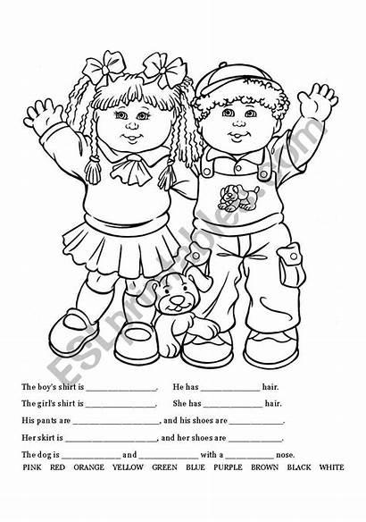 Esl Coloring Worksheet Clothing Writing Worksheets Pages
