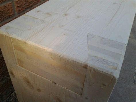 dovetail joint garden bench  clt laminate timber